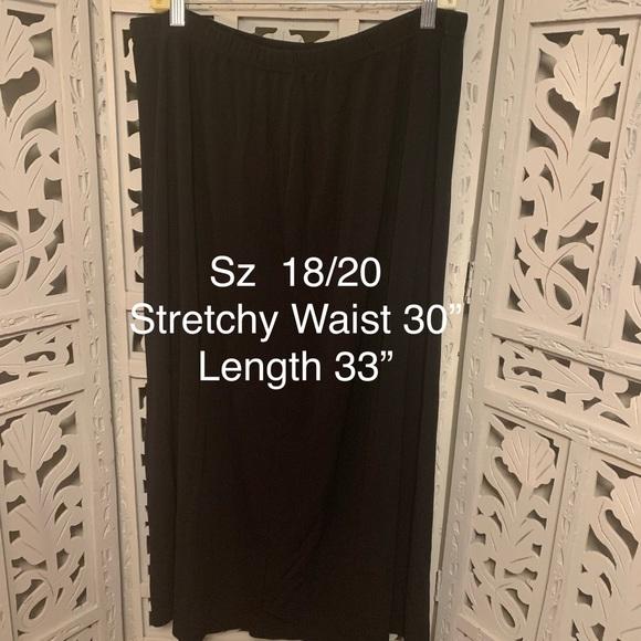 Dresses & Skirts - PLUS BLACK LONG STRETCHY SKIRT
